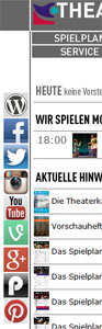 Social-Media-Accounts des Theater Koblenz